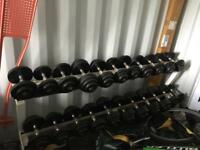 Dumbbell weights & weight rack