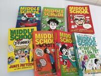 7 x Middle School books