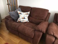 2 x DFS Recliner Sofas - only bought over a year ago