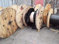 Wooden cable drums various sizes from 1100mm up to 1600mm diameters reclaimed ready for repurpose