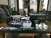 DJI Phantom 3 Advanced with Carry Case and Other Extras