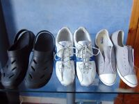 Timberland Outdoor Performance Trainers(Size 12) & also Deck Shoes(Sz 11)& Croc Style Sandals(Sz 12)