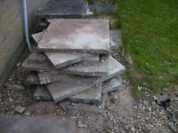 Free Paving Slabs, great for shed base, allotments, path etc.