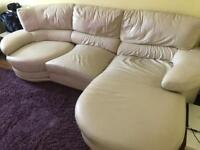 ABSOLUTE BARGAIN REDUCED PRICE DFS genuine leather sofa and elec recliner armchair