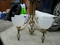 Brass Light Chandelier