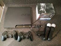 Playstation 3 160GB, Playstation move and several games for sale