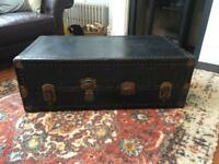 Vintage suitcase/trunk for coffee table