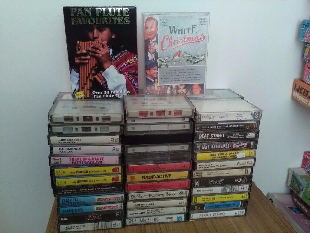 Music cassettes, over 70, all original - no copies. Vast majority in original sleeves. FREE