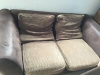 3 seater sofa and large armchair . Matching.