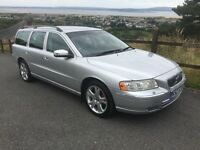 Volvo V70LUX SE D5 2006 Estate Diesel 2.4 Silver Fully Loaded with Extras Service History was £4325