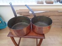 FRENCH CHEF'S COPPER PANS £95 MAIDSTONE