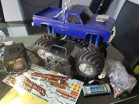 Tamiya super clodbuster 4x4x4 hopped up tuned super clod buster
