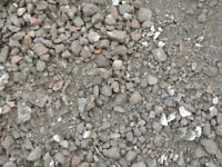 recycled crushed brick and stone. mot type 1 sub base.