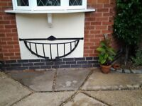 Wrought Iron hay basket for plants