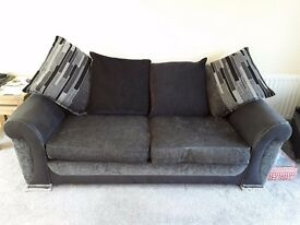 Large Black 2 seater DFS sofa