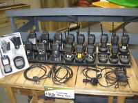 17 used 2-way Radio Walkie-Talkies licence free 6x Vertex Standard, 11 x Hyt Power446 c/w chargers
