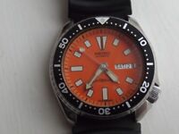 VINTAGE SEIKO DIVERS AUTOMATIC GENTS WATCH SERVICED 2017 150 METERS 6309-729A