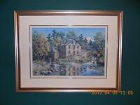 Original Oil Painting by James L. Keirstead – Clyde Falls Mill