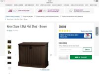 KETER STORE IT OUT GARDEN SHED BRAND NEW £50