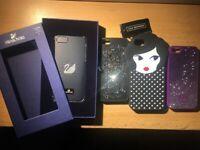4 x IPHONE SE CASES SWAROVSKI AND LULU GUINESS