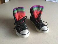 Kids converse boots size 12.5