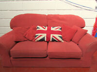 2 SEATER SOFA SUITE 2 ARMCHAIRS GOOD CONDITION FREE DELIVERY IN LIVERPOOL