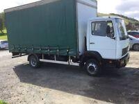 Mercedes 814 7.5 ton gross Curtain Sider