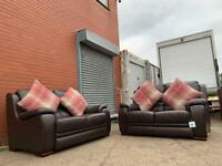 Beautiful Harvey's real leather sofas delivery 🚚 sofa suite couch furniture