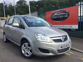 2010 59 Vauxhall Zafira 1.6 i 16v Exclusiv 5dr Petrol 5 Speed Manual 7 Seater