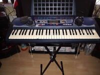 yamaha psr-260 key board with sustain pedal and stand (cud deliver)