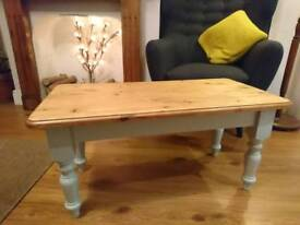 Vintage restored coffee table