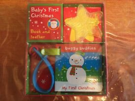 Baby's First Christmas Buggy Buddy And Teether Pack
