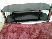 black glass tv / video stand