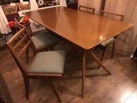 Mid century Scandinavian Teak Table and chair set