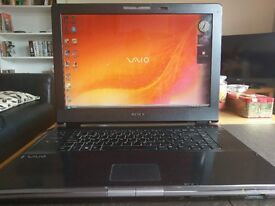 "Sony VAIO 17"" laptop - fully working but faulty keyboard"