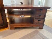 Languedoc-Style Wooden TV Stand