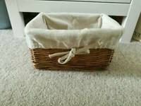 Wicker storage box ikea
