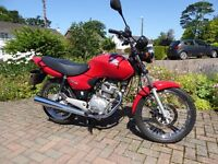 2007 Honda CG125 – Only 2367 miles. In excellent condition