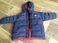 Boys ages 2-3 CAT winter jacket and Shoes size 6