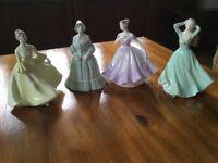 Coalport figurines.