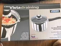 Judge vista new draining saucepan.