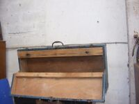 old wooden joiners tool box for sale