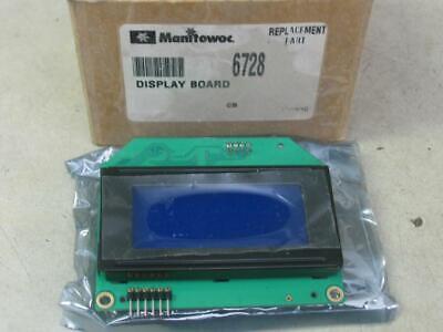 Manitowoc 000006728 Ice Machine Lcd Display Circuit Board 6728