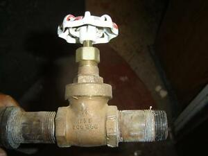 $10 · Black steel pipe and fittings and brass gate valves