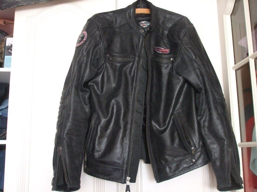 Harley Davidson Leather perforated motorcycle jacket
