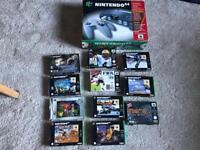 N64 Nintendo 64 Boxed Console & 11 Games