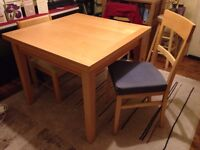 Dining Table and 2 Chairs (Expandable Table)