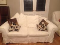 2 and 3 seater Sofas cream, Great Condition