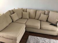 Corner sofa bed and footstool