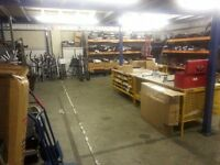 Storage / workshop space within premium Warehouse with parking - 1200sq ft inclusive of Costs